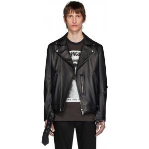 Black Leather Nate Clean Jacket