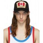 Black Canada Patch Cap