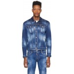 Blue Denim Orange Macchia Denim Jacket