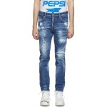 Blue Classic Kenney Bleached Holes Jeans