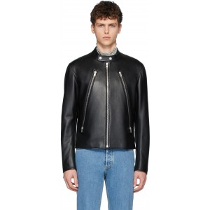 Black Leather Sports Jacket