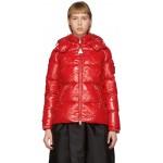 4 Moncler Simone Rocha Red Callitris Down Jacket