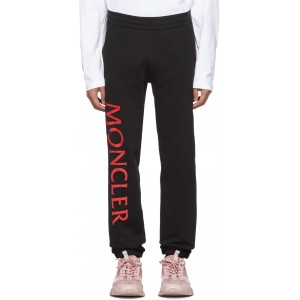2 Moncler 1952 Black Awake NY Edition Logo Lounge Pants
