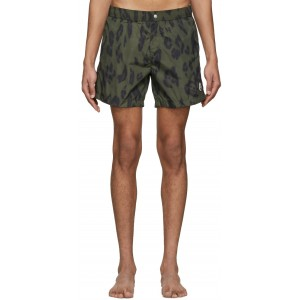 2 Moncler 1952 Khaki Printed Swim Shorts