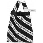 Black & White Medium Logo Jacquard Shopper Tote