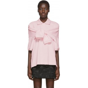 Pink Tie-Sleeve Polo