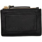 Black 'The Textured Box' Top Zip Card Holder