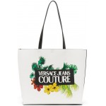 Reversible White Tropical Tote