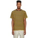 Yellow & Navy Striped Classic Fit T-Shirt
