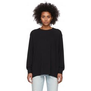 Black Tilted Pocket Long Sleeve T-Shirt