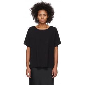 Black Tilted Pocket T-Shirt