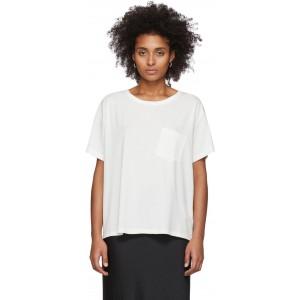 White Tilted Pocket T-Shirt