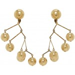 Gold Large Balance Earrings