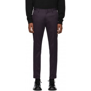 Purple Cotton Stretch Chino Trousers