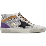 Silver Glitter Mid Star Sneakers