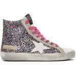 Multicolor & Grey Glitter Francy Sneakers