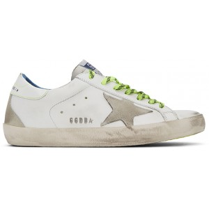 White Fluorescent Superstar Sneakers