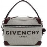 Grey & Burgundy Coffer Box Messenger Bag