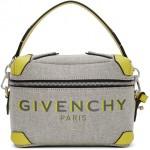 Grey & Yellow Coffer Box Messenger Bag