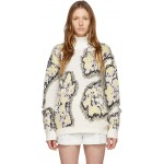 Multicolor Wool Abstract Daisy Sweater