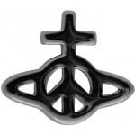 Silver Peace Orb Earring