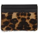 Brown & Black Leopard Card Holder