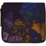 Purple Flower Zip Around Wallet