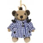 Beige Gingham Thomas Bear Keychain