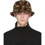Brown Fleece Monogram Bucket Hat