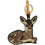 Brown 2D Deer Keychain