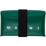 Green PVC Mini Card Holder