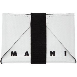 Green & Off-White Twin Card Holder