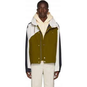 Green & Navy Short Nauticial Coat