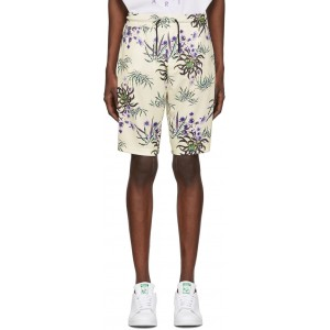 White Tech All Over Shorts