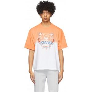 Orange & White Tiger Gradient T-Shirt