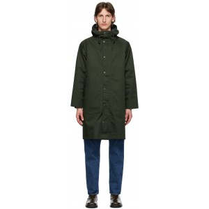 Green Hooded Hunting Coat