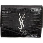 Black Croc Uptown Compact Wallet