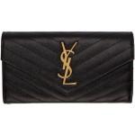 Black & Gold Large Monogramme Flap Wallet