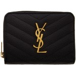 Black Small Compact Monogramme Wallet