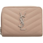 Pink Monogramme Compact Zip Around Wallet