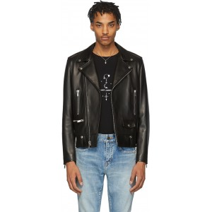 Black Leather Classic Biker Jacket