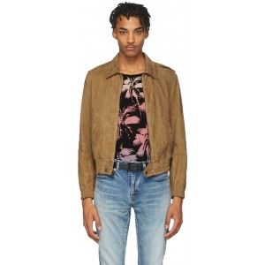 Tan Leather Zipped Lyon Jacket