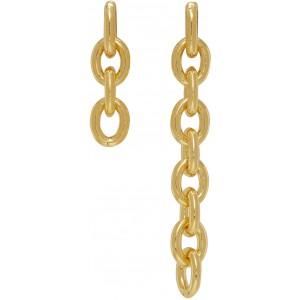 Gold #842 Asymmetric Chain Earrings