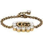 Gold Crystal GG Marmont Bracelet