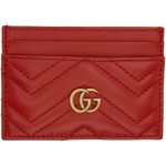Red GG Marmont Card Holder
