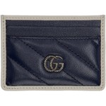 Navy GG Marmont Torchon Card Holder