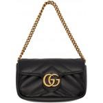Black GG Marmont Coin Case Bag