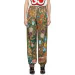 Brown GG Flora Lounge Pants