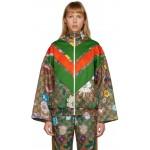 Brown GG Flora Track Jacket
