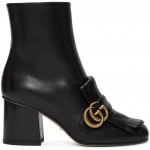Black Double G Ankle Boots